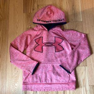 Boys Under Armour Red Hooded sweatshirt M